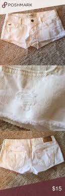 one day sale hollister white shorts d abs and shorts
