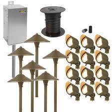 malibu landscape lighting sets diy landscape lighting kits low voltage outdoor path light sets