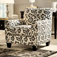 accent chair in floral print by signature design by ashley wolf