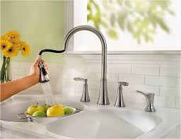 Two Handle Kitchen Faucet by Kitchen Fantastic Two Handle Kitchen Faucet Also Soup Dispenser