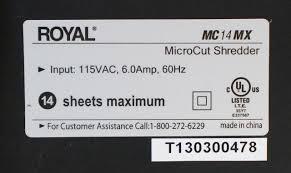 royal mc14mx 14 sheet micro cut paper shredder mdg sales llc