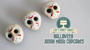 Mini Halloween Cakes by Friday 13th Jason Mask Cupcakes Halloween Youtube