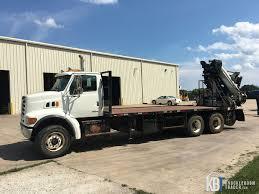 pm 32024 knuckleboom crane w jib and sterling lt9501 truck