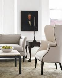 White Chairs For Living Room White Leather Wingback Chair Foter