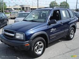 chevy tracker 2002 indigo blue metallic chevrolet tracker zr2 4wd hard top