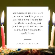 birthday greetings to a wonderful mother in law mother in law