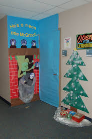 Christmas Office Door Decorations How The Grinch Stole Christmas Decorations Christmas Lights