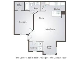 1 bedroom house plans 1 bedroom apartment floor plans pricing the oasis at 1800