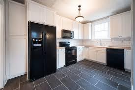 kitchen remodel indianapolis in porcelain floor tile black