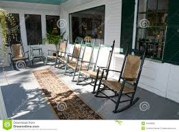 Cane Rocking Chairs For Sale Rocking Chairs On An Outdoor Porch Stock Photo Image 45458838