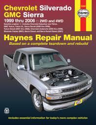 online auto repair manual 2000 chevrolet suburban 1500 electronic throttle control chevrolet silverado gmc sierra gas pick ups 99 06 haynes repair