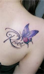 purple butterfly with name