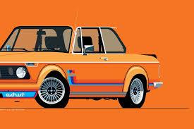 inka orange bmw 2002 illustrated 1974 bmw 2002 turbo print in inka by nik schulz