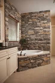 Rustic Master Bathroom Ideas - heritage stone interior ledgestone for the master bath very