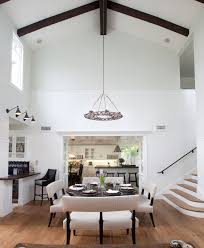 craftsman armed wall with white painted wood ceiling entry beach
