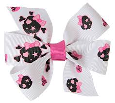 skull ribbon 7 8 pirate skull ribbons hip girl boutique llc free hairbow