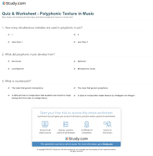 quiz u0026 worksheet polyphonic texture in music study com