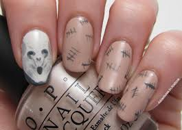 halloween monster nails my halloween mani the silence nail art adventures in acetone