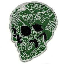 ecusson patch tête de mort mexicaine calavera tattoo chicanos