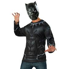 rubies halloween 5 mask black panther mens costume top and mask marvel the avengers costumes