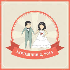 Wedding Invitation Card Templates Wedding Invitation Card Template With Cartoon Couple Bride And G