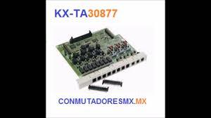 kx ta30877 tarjeta expansión conmutador serie videos kx ta308 1 6