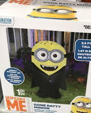 Minion Halloween Outdoor Decorations by Airblown Gone Batty Minion Halloween Decoration Outdoor Statue Ebay