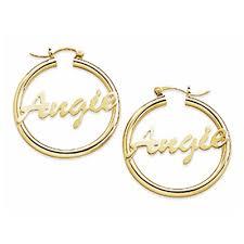Name Hoop Earrings Gold Hoop Earrings With Name Inside Name Earrings And Personalized
