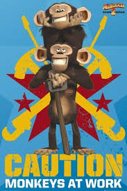 madagascar 2 monkeys poster sold europosters