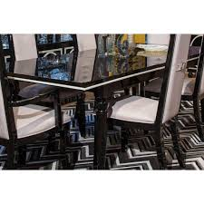 1 159 00 sky tower rectangular dining table black ice by