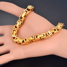 gold box chain bracelet images 316l stainless steel bracelet men jewelry wholesale braslet 2017 jpg