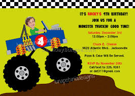 monster truck jam jacksonville monster truck birthday invitations 6 best birthday resource gallery