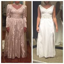 s wedding dress totally transforms s 80s wedding gown