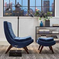 Blue Suede Chair Blue Chairs Living Room Furniture The Home Depot