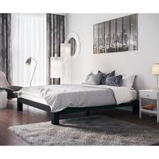 Black Platform Bed Vesta Black Metal Slatted Platform Bed Free Shipping Today