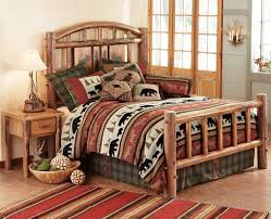 Blue Bedroom Furniture by Rustic Bedroom Furniture Log Beds And Hickory Beds Black Forest