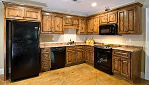 Distressed Black Kitchen Cabinets by Distressed Knotty Alder Cabinets Exitallergy Com