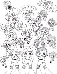 powerpuff girls coloring pages funycoloring