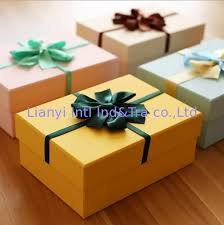 gift box with ribbon customized size rigid paper gift box with ribbon and the bowknot