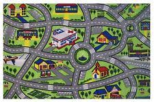 Kid Rug Road Map Rug Racing Cars Children S Rugs 94cm X 164cm Play Mat Car