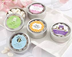 candy containers for favors candy tin candy favor container personalized baby shower