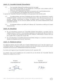 changement de bureau association loi 1901 status association