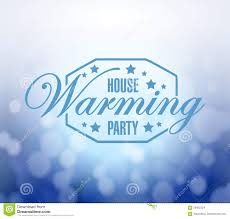 Housewarming by House Warming Party Bokeh Background Stock Illustration Image