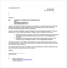 letter of termination sample letter for termination for just