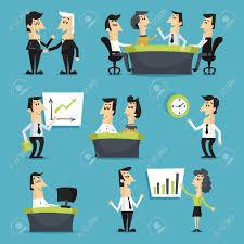 jeu de travail au bureau les employés de bureau jeu plat avec les gens assis marche sur les