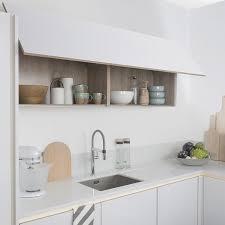 caisson haut cuisine meuble haut cuisine bois top eclairage sous meuble haut cuisine