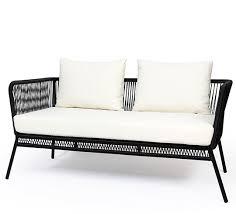 canapé jardin ce canapé de jardin fil noir mexico et coussin ivoire apporte une