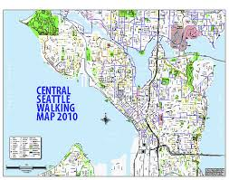 seattle map by district city releases new walking maps plan your walk to hit or miss