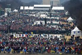 picture of inauguration crowd aerial images show sparse crowds turn out for president trump u0027s