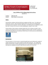 cary 100 uv vis operating instructions enzyme kinetics absorbance